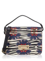 FURLA Julia Small Floral Print Shoulder Bag White Multi