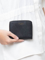KATE SPADE Cameron Small Slim Continental Wallet Black