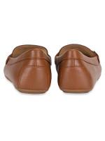 MICHAEL KORS Grier Moc Leather Loafer Luggage Sz 7.5