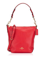 COACH 67025 Leather Mini Abby Duffle Bright Red