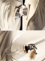 BALENCIAGA Giant Silver Flat Clutch White