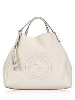 GUCCI Large Soho Shoulder Bag Off White