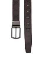 COACH Men 64825 Harness Signature Belt Mahogany Brown Gunmetal