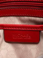 MICHAEL KORS Selma Grommet Large Satchel Red