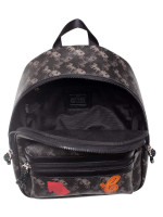 COACH 84225 Horse And Carriage Medium Charlie Backpack Black Grey Multi