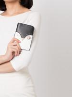 KATE SPADE Frosty Passport Holder Black