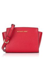 MICHAEL KORS Selma Mini Messenger Bright Red
