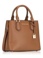 MICHAEL KORS Adele Leather Medium Messenger Luggage
