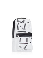 KENZO Men Crew Logo Nylon Sling Pack Off White