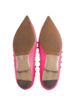 VALENTINO Rockstud Leather Flats Pink Sz 39