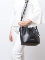 MICHAEL KORS Eden Leather Medium Bucket Shoulder Bag Black