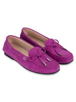 TOD'S Gommino Suede Leather Driver Purple Sz 39
