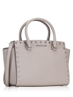 MICHAEL KORS Selma Stud Medium Satchel Cement