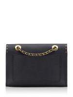 COACH 53344 Signature Embossed Leather Parker Shoulder Bag Black