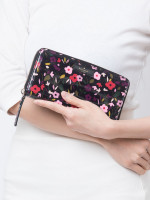 KATE SPADE Daycation Boho Floral Neda Wallet Black Multi