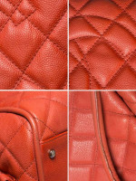 CHANEL Caviar Timeless CC Satchel Rouge