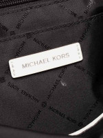 MICHAEL KORS Connie Nylon Large Duffle Bag Black Optic White