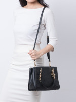 MICHAEL KORS Sofia Perforated Saffiano Medium Tote Black