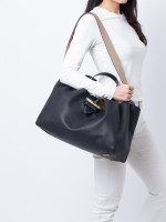 LOEWE Barcelona Leather Tote Black