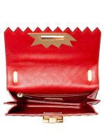 SALVATORE FERRAGAMO Sindy Zig Zag Small Flap Bag Multicolor