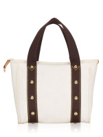 LOUIS VUITTON Cabas Antigua PM White