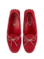 TOD'S Gommino Suede Driver Red Sz 39