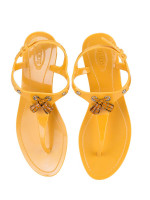 TOD'S Tassel Jelly Sandals Yellow Sz 38