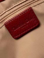 CHRISTIAN DIOR Dior Vintage Trotter Shoulder Bag Red