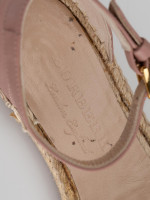 BURBERRY Nova Check Canvas Abbingdon Espadrille Pink Multi Sz 37