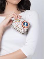 MICHAEL KORS Signature Aspen Small Jewelry Case Vanilla Multi