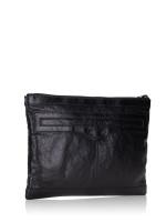 BALENCIAGA Valencia Calyx Leather Clutch Black