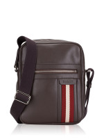 BALLY Men Oakview-SM Leather Messenger Chocolate