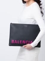 BALENCIAGA Ville Large Pouch Black Pink