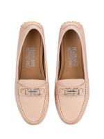 SALVATORE FERRAGAMO Saba Leather Loafers Beige Sz 7
