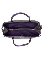 COACH 57842 Signature Drawstring Carryall Brown Dark Purple