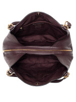 COACH 80268 Pebble Leather Hallie Shoulder Bag Oxblood