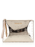 MICHAEL KORS Jet Set Travel XL Zip Clutch Wristlet Pale Gold