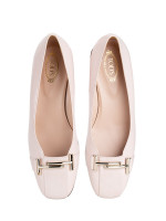 TOD'S Double T Leather Pumps Pink Sz 37