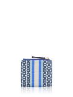 TORY BURCH Gemini Link Canvas Mini Wallet Bondi Blue