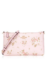 COACH 91758 Rose Bouquet Print Top Zip Crossbody Blossom Multi