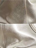 TORY BURCH Robinson Metallic Mini Double Zip Tote Bag Silver