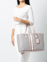 TORY BURCH Gemini Link Canvas Tote Coastal Pink