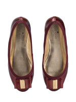 KATE SPADE Tock Patent Saffiano Flats Ruby Sz 7