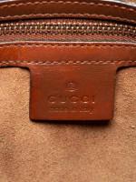 GUCCI GG Supreme Small Boston Bag Beige Brown