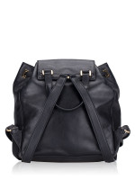 MICHAEL KORS Marly Drawstring Leather Backpack Black
