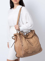 BURBERRY Slouchy Oversized Leather Tote Brown
