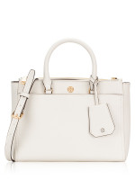 TORY BURCH Robinson Small Double Zip Tote Birch Shell Pink