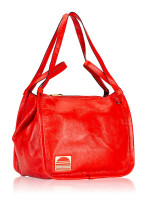 MARC JACOBS Leather Sport Tote Poppy Red