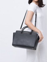 MICHAEL KORS Selma Saffiano Large Satchel Black