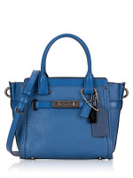 COACH 37444 Pebble Leather Swagger 21 Lapis